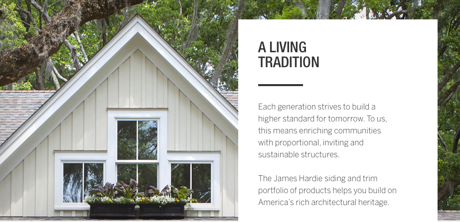 James Hardie materials stability for years to come