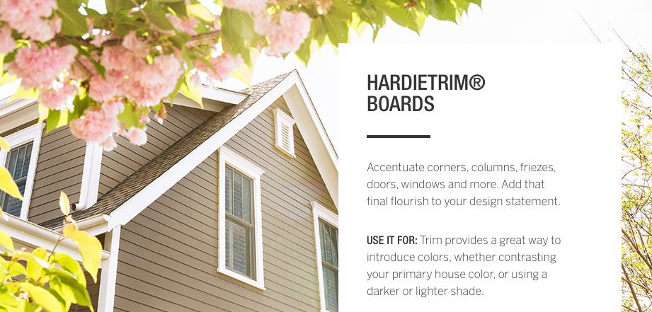HardiTrim Boards for fascia window and trim